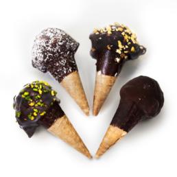 Miniconi ricoperti di cioccolato