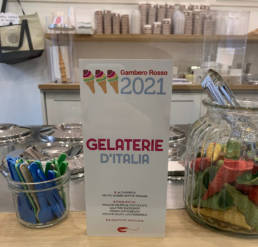 Gambero Rosso gelaterie 2021 in gelateria Terra e Cuore